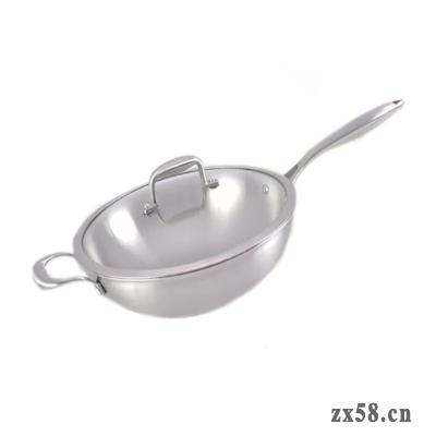 铸源不锈钢聚能炒锅