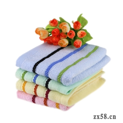 绿之韵竹纤维方巾