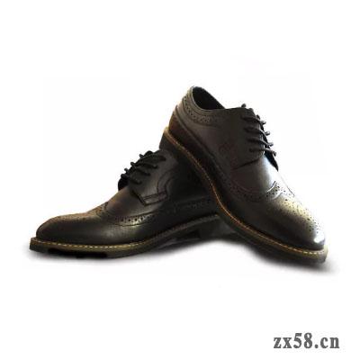 铸源男士黑色皮鞋