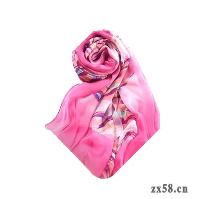 铸源能量真丝缎丝巾