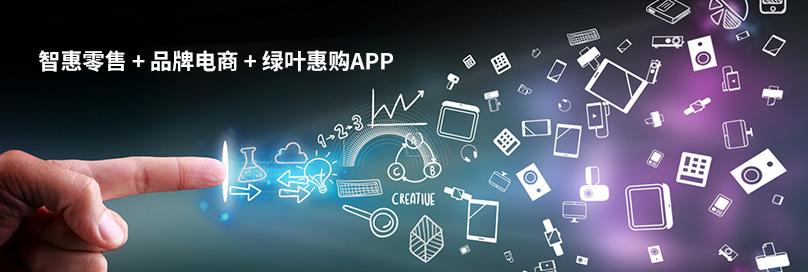 智惠零售 + 品牌电商 + 绿叶惠购APP