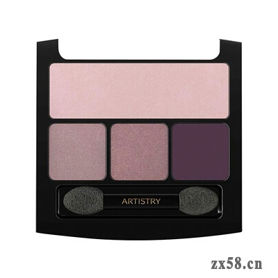 安利雅姿星邃凝彩四色眼影--香槟粉紫