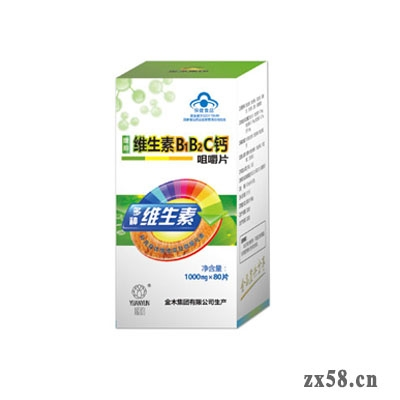 金木媛韵维生素B1B2C钙咀嚼片