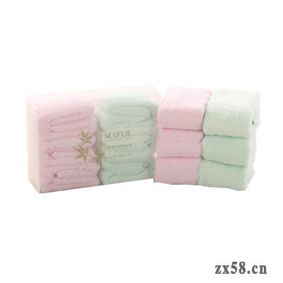 安惠梦瑞福竹纤维方巾组合