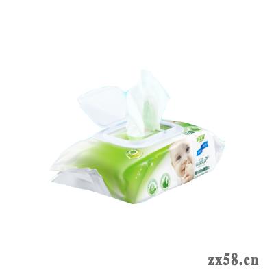绿叶卡丽施80片包婴儿洁肤柔湿巾(每箱24包)