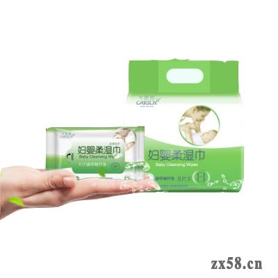 绿叶卡丽施妇婴柔湿巾(迷你8抽)8包入(每箱18提)