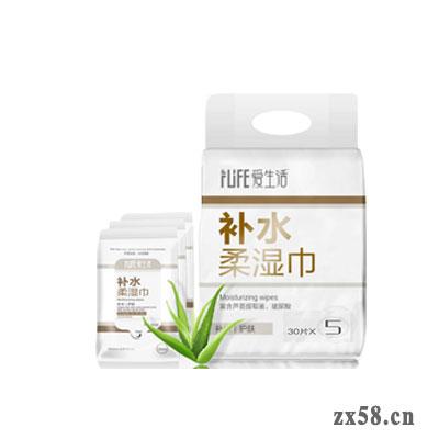 绿叶爱生活补水柔湿巾30P