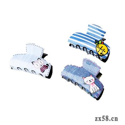 绿叶朝花夕饰牛仔蓝...