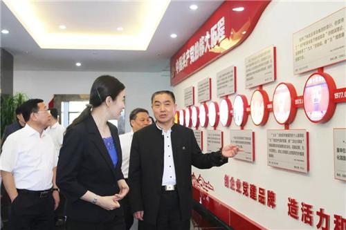 威海市委副书记张宏伟一行莅临安然公司调研指导工作