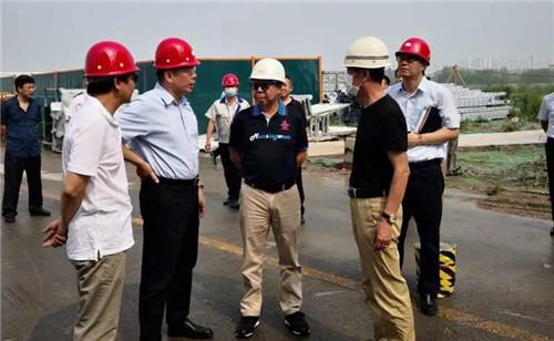 滨海高新区领导视察尚赫400亩产业园区